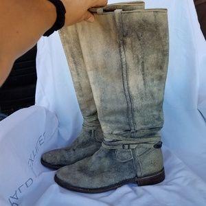 Grey Frye Knee High Boots